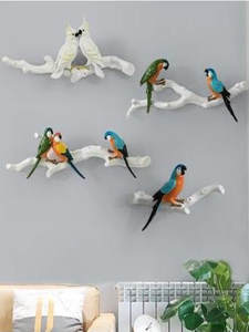 Beautiful three-dimensional parrot wall stickers, creative bird wall hanging crafts, home decoration products