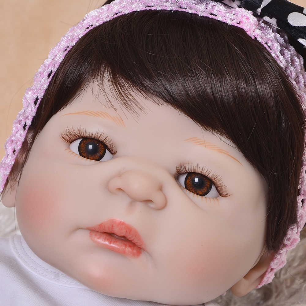 Реалистичный 23 ''57 см гиперреалистичный куклы полное тело силиконовая кукла игрушка для детского дня фестиваль рождественские подарки одежда Checker юбка