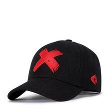 0102f2f02d412 Gorra de béisbol hombres papá sombrero mujeres bordado Casual X gorras  curva visera ajustable algodón Flexfit macho hueso negro .