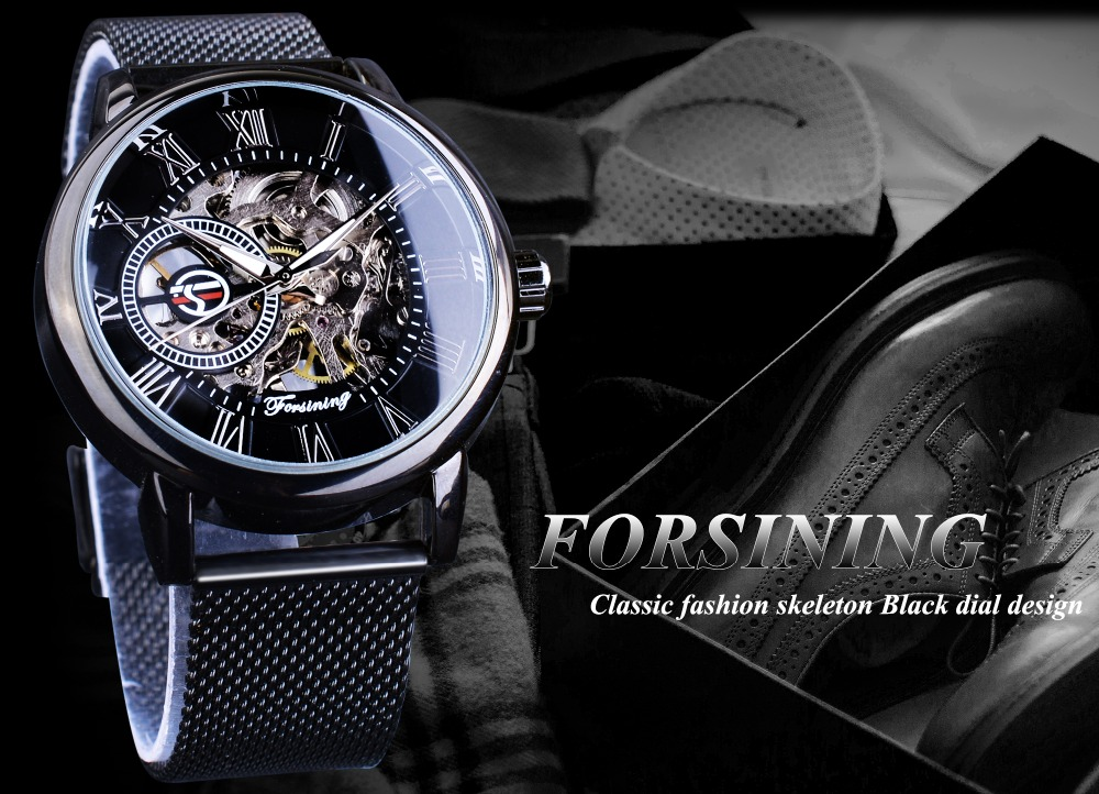 HTB1qvDUiL5TBuNjSspcq6znGFXaM Forsining Retro Fashion Design Skeleton Sport Mechanical Watch Luminous Hands Transparent Mesh Bracelet For Men Top Brand Luxury