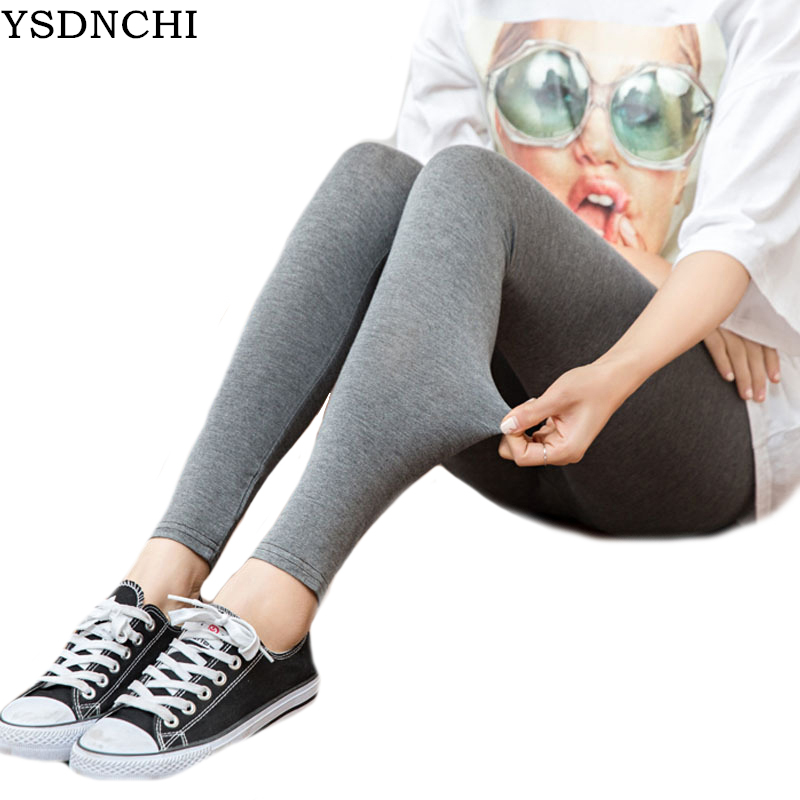 YSDNCHI Women Leggings Outside Female Stretch Slim Legging Casual Dance Leggins High Elastic Black Candy Color Pants Girl Leggin