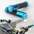 "For 7/8"" Motorcycle Blue Handlebar Sports Bikes Aluminum Rubber Gel Hand Grips for Ascot 500 CB125S CB650"