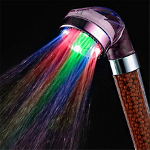 Water Saving font b LED b font Anion Shower Head Contemporary Multi color Grohe Chuveiro font