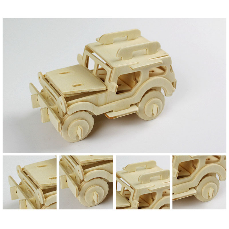 GYMTOP 3D Wooden Puzzle Model Games Toys For Children Gift