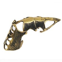 New Practical Superior Cool Gothic Pewter Metal Punk Armour Knuckle Finger Ring