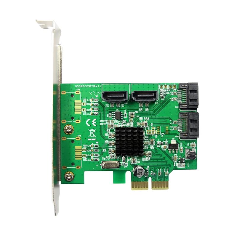 Marvell 9235 Ներքին 4 պորտ SATA 3.0 SSD PCI-e Card Quad - Համակարգչային բաղադրիչներ - Լուսանկար 2