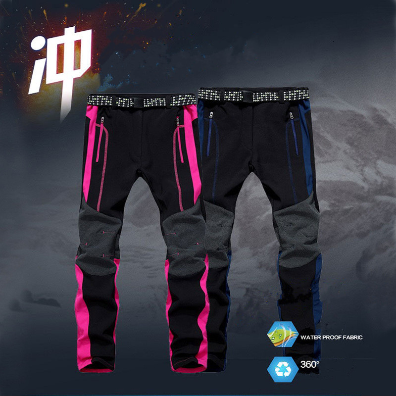 2016 New Winter Men Women Hiking Pants Outdoor Sport Softshell Trousers Waterproof Windproof Thermal for Camping Ski Climbing цепная пила
