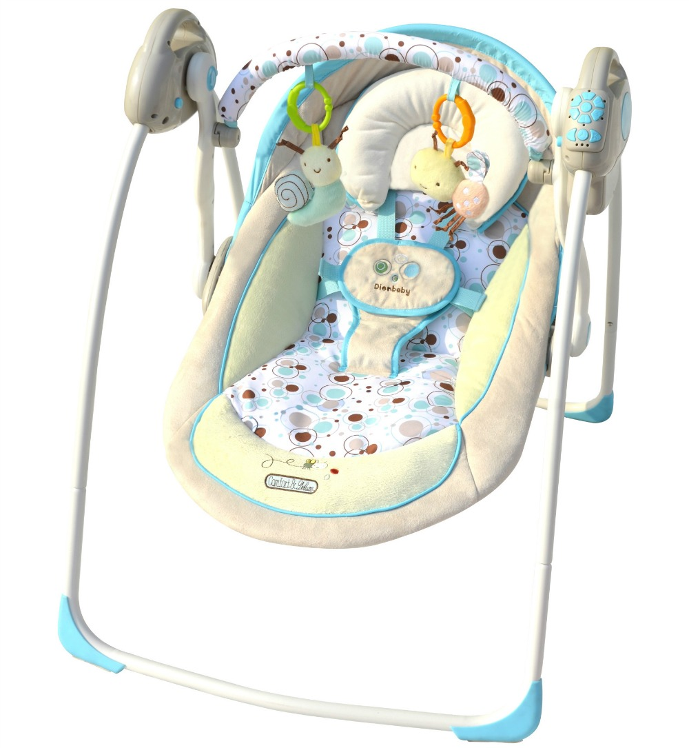 Free shipping blue luxury baby cradle swing electric baby for Baby chaise lounge