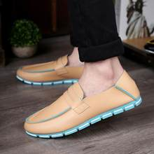 New Arrival Men Casuals Round Toe Comfortable Shoes Fashion Korean Casual England Style Casuals Drivng Lazy Shoes 34(China)