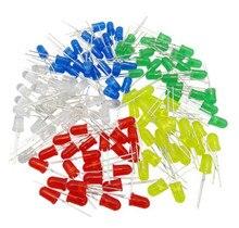 5000 ピース/ロット 5 色 F5 5 ミリメートルラウンド黄白赤緑青各 1000 個拡散ラウンドディップダイオード LED ランプライト