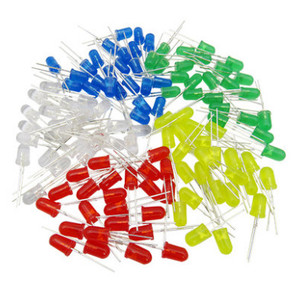 Image 1 - 5000pcs/lot 5 Colors F5 5MM Round Yellow White Red Green Blue Each 1000pcs Diffused Round DIP Diode LED Lamp Light