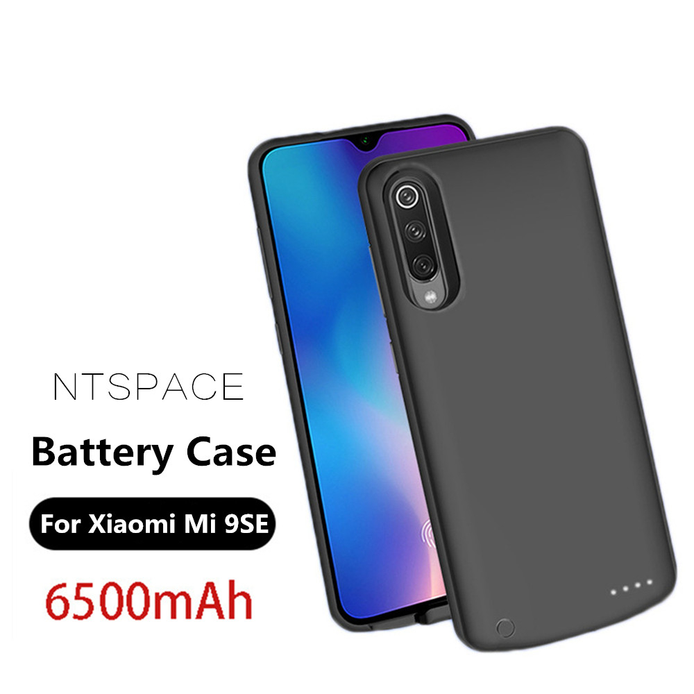 NTSPACE Extenal Battery Charger Cases For Xiaomi Mi 9 SE Battery Case 6500mAh Ultra Slim Portable Power Bank Pack Charging CoverNTSPACE Extenal Battery Charger Cases For Xiaomi Mi 9 SE Battery Case 6500mAh Ultra Slim Portable Power Bank Pack Charging Cover