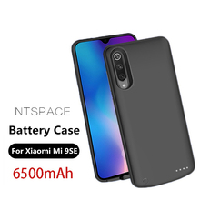 NTSPACE Extenal Battery Charger Cases For Xiaomi Mi 9 SE Case 6500mAh Ultra Slim Portable Power Bank Pack Charging Cover