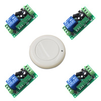 DC 9V 12V 24V 1CH Radio Controller RF Wireless Relay Remote Control Switch System 315 MHZ 433 MHZ 1Transmitter +4 Receivers