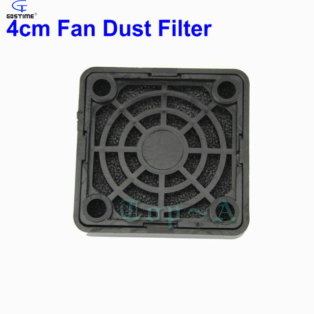 Gdstime 2 Pieces 4cm Black Plastic PC Computer Dustproof Case Cooling Fan Dust Filter Used For 40mmx40mm Cooler free shipping