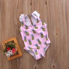 2017 Baby clothing Pineapple Toddler Baby Girl Kids Swimsuit Bathing Tankini Bikini Set Swimwear Beachwear swimming bathing suit