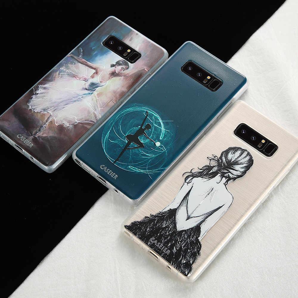 Caseier Телефон чехол для Samsung Galaxy S6 S7 edge S8 Plus Note 8 Чехол Балетные костюмы для девочек ударопрочный чехол мягкий ТПУ моды Fundas Капа для Samsung Galaxy S6 edge S7 edge для Samsung Galaxy S8 Plus Note 8