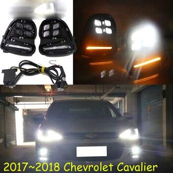 Car bumper headlight Cavalier daytime light,2017~2018y car accessories LED headlamp Cavalier fog light
