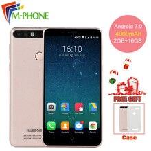Leagoo Kiicaa Power 5.0 inch Android 7.0 Smartphone 4000 mAh MT6580A 2G+16GB ROM Dual Rear Cameras Fingerprint 3G Mobile Phone