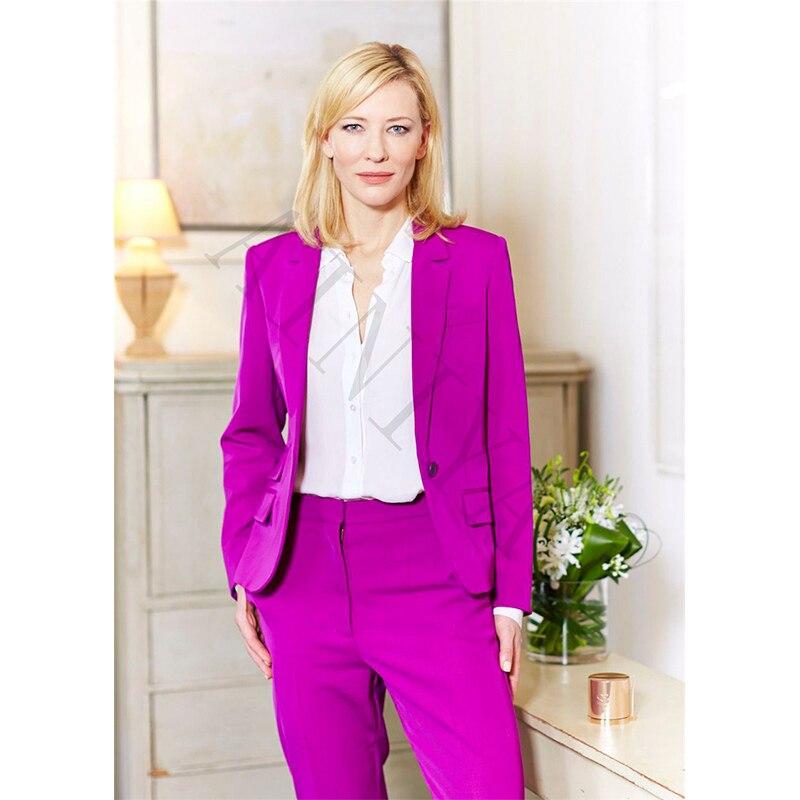 Compra trajes pantalón de color púrpura online al por ...