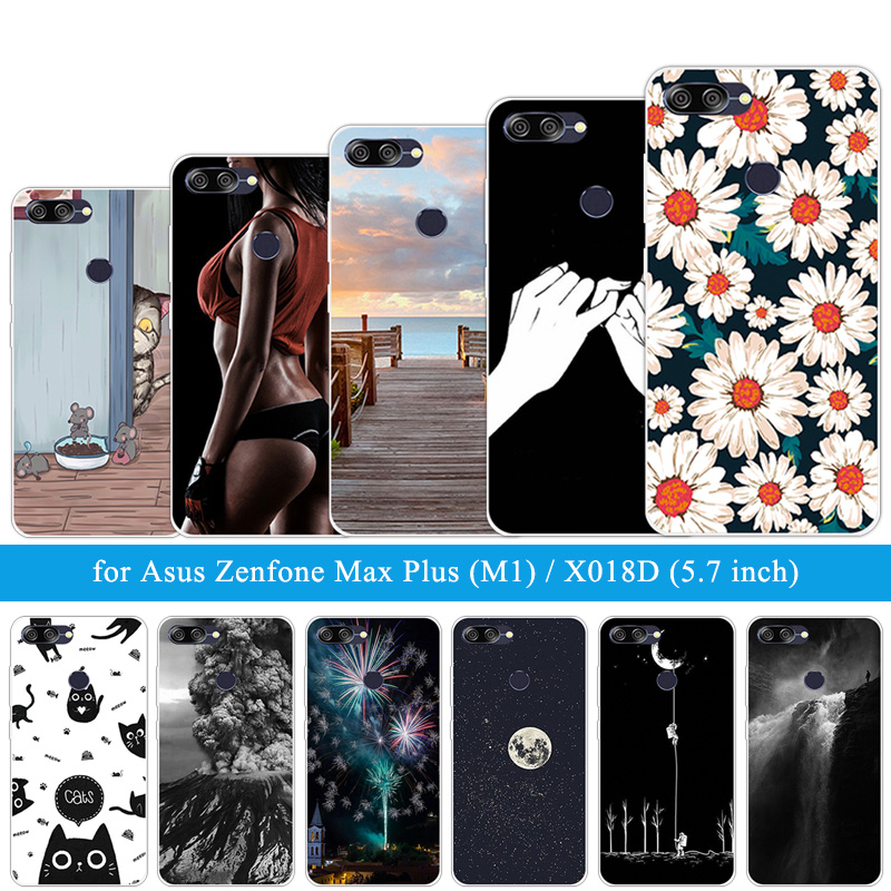 For Asus ZenFone Max Plus M1 ZB570TL Wooden Cases Siliocne 5.7 inch For Zenfone Max Plus M1 X018DC ZB570TL Soft TPU Shells