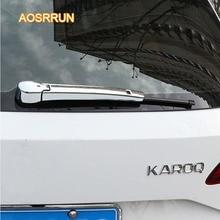 AOSRRUN ABS electroplated rain scraper strip rain scraper decorative cover cover Car accessories FOR Skoda Kodiaq Karoq