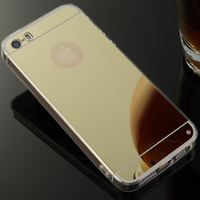 For IPhone 5s Case Luxury Ultra Thin Slim Plating Mirror Soft TPU Silicone Case For Apple