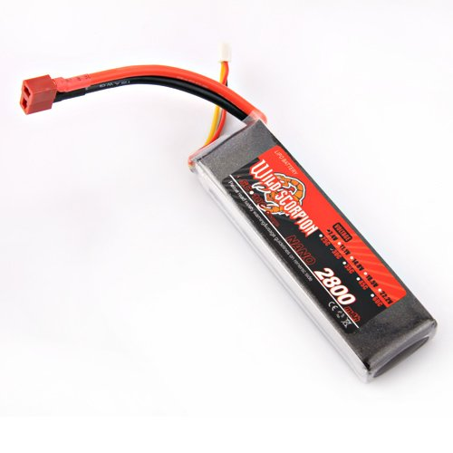 100% Brand New High quality Wild Scorpion RC 7.4V 2800mAh 30C Li-polymer Lipo Battery Helicopter+free shipping цена и фото