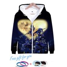 LUCKYFRIDAYF New 3D kingdom hearts Hoodies Women/Men Printed Thicker Fluff Warm Fashion Chinese Zipper Sweatshirt Coat Sudaderas