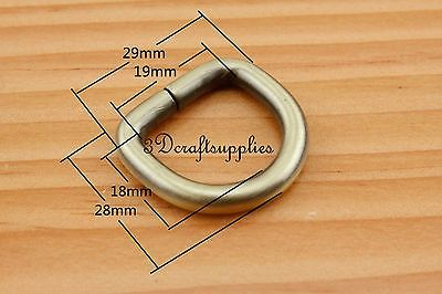 d ring d-rings purse ring Webbing Strapping anti bronze 19mm 3/4 inch 12pcs U157