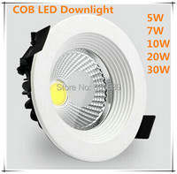 Hot DHL 50PCS LOT 30W COB Led Downlight Down Light Lamp 2800LM Recessed 85 265V Brand