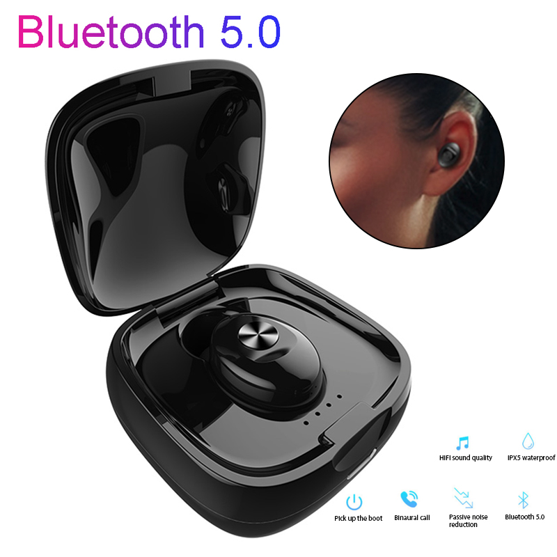 Bluetooth 5 0 Earphone Wireless Stereo Headset Sport HIFI Sound Earphone Handsfree Gaming Headset with Mic for Phone in Bluetooth Earphones Headphones from Consumer Electronics