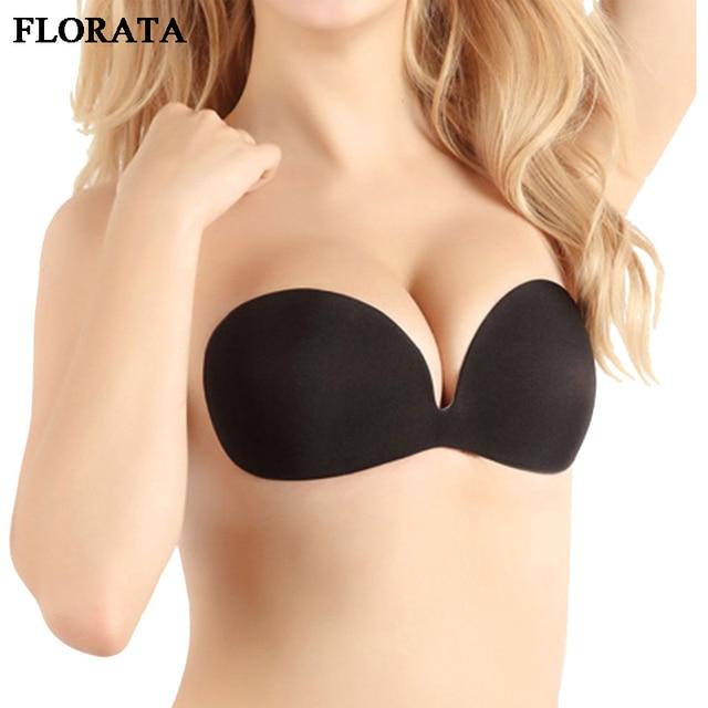 0c289a87f4173 European Version Invisible Bra Push Up Strapless Backless Bra Women Seamless  Underwear Plus Size