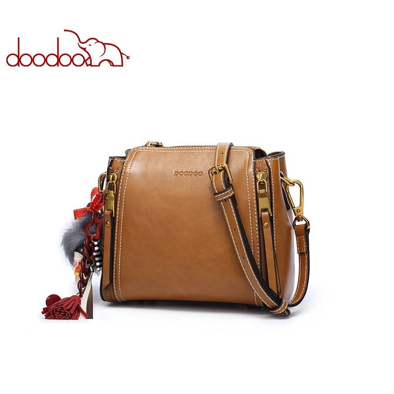 DOODOO Women PU Leather Handbag Female Shoulder Crossbody Bags Ladies Top handle Luxury Handbags Women Bags