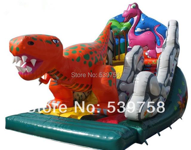 Las últimas diapositivas inflables, castillos inflables, Gorila inflable, diapositiva Dinosaurio