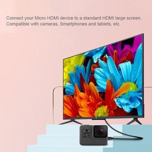 Image 5 - Micro kabel hdmi linia danych dla GoPro Hero 7 6 5 4 3 + Sjcam Sj4000 Xiaomi Yi 4K Eken H9r akcesoria do kamer w ruchu