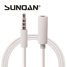 3.5mm Male to Female Audio Cable 1M/3FT white Headphone Aux Extension Cable For PC/DVD/TV/Car Audio Extension Cable 1 mitter