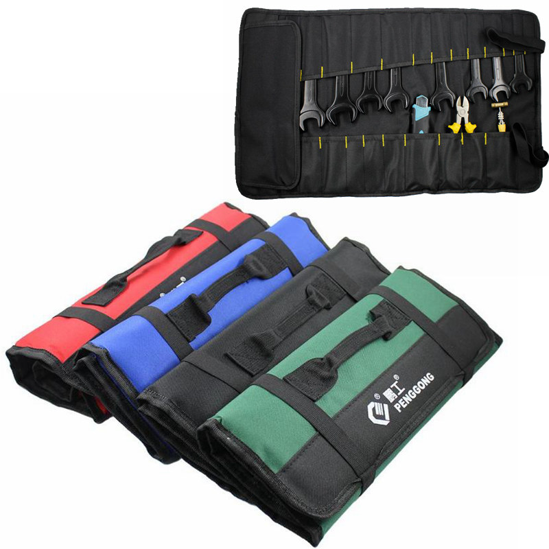 Multi-function Waterproof Oxford Carrying Handles Folding Roll Bags Portable Toolkit Storage Tool Bag Organizer Pouch Bag Case