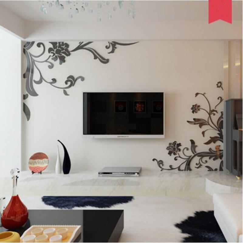 Акрил 3D стерео самоклеящиеся наклейки гостиной, спальни, ТВ фоне стены комнаты стены фильм обои орнамент