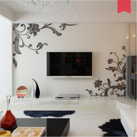 Acrylic 3D stereo self adhesive stickers Living room, bedroom, TV background wall Room wall film wallpaper Ornament