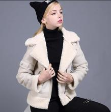 Winter Short Suede Jacket Women Bayan Deri Ceket Motorcycle Jacket Warm Suede Coat Lamb Flocking Cotton Parkas