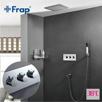 Frap Shower Faucet Bath Thermostatic Sensor Faucet Basin Sink Waterfall Faucets Shower Mixer Tap Bath Faucet Mixer Rainfall Taps