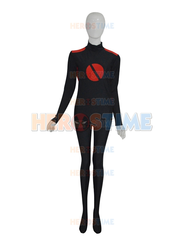 Black & Red Custom Superhero Costume Halloween Cosplay Zentai Suit  free shipping