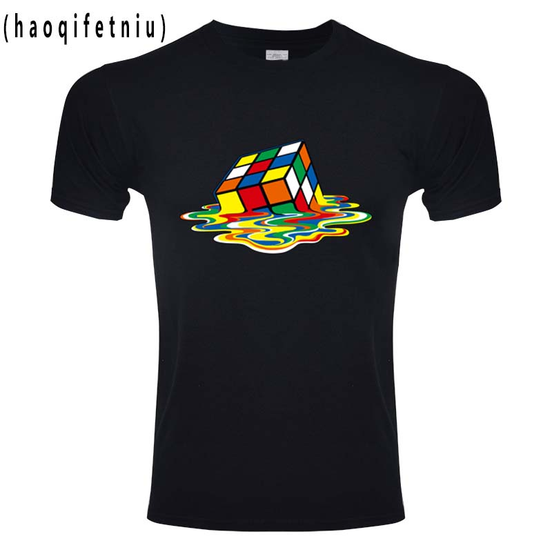 Tops & Tees Temperate 2018 Summer New Men T-shirts The Big Bang Theory Printed Stylish Design Rubik Cube T Shirts Casual 100% Cotton Short Sleeve Tees Clear And Distinctive