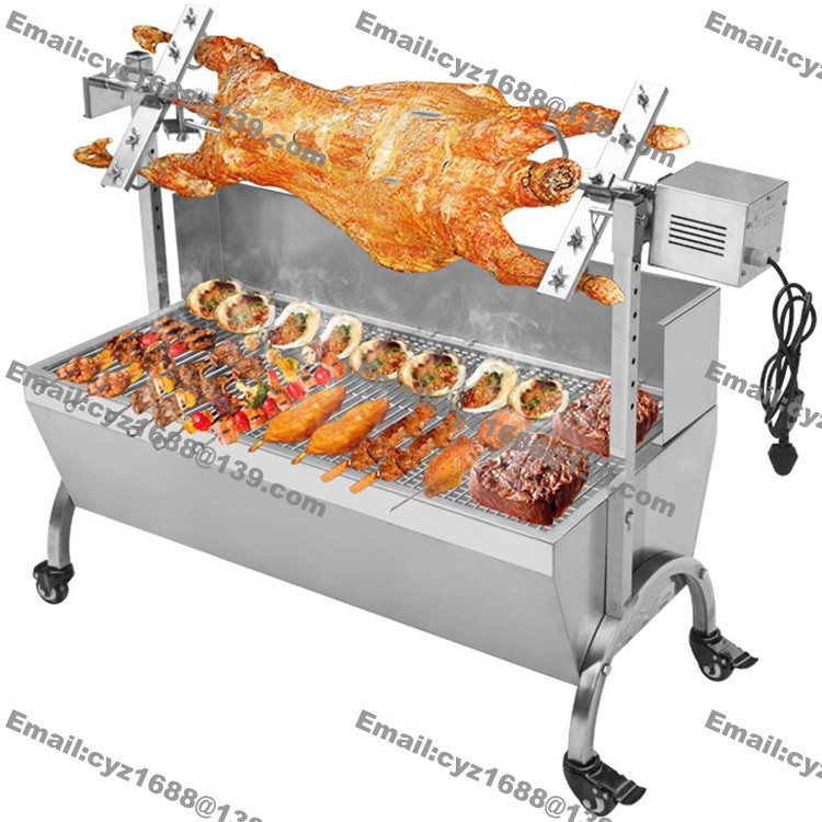 Free shipping 118cm commercial hog roast machine bbq spit for Bbq spit motors electric