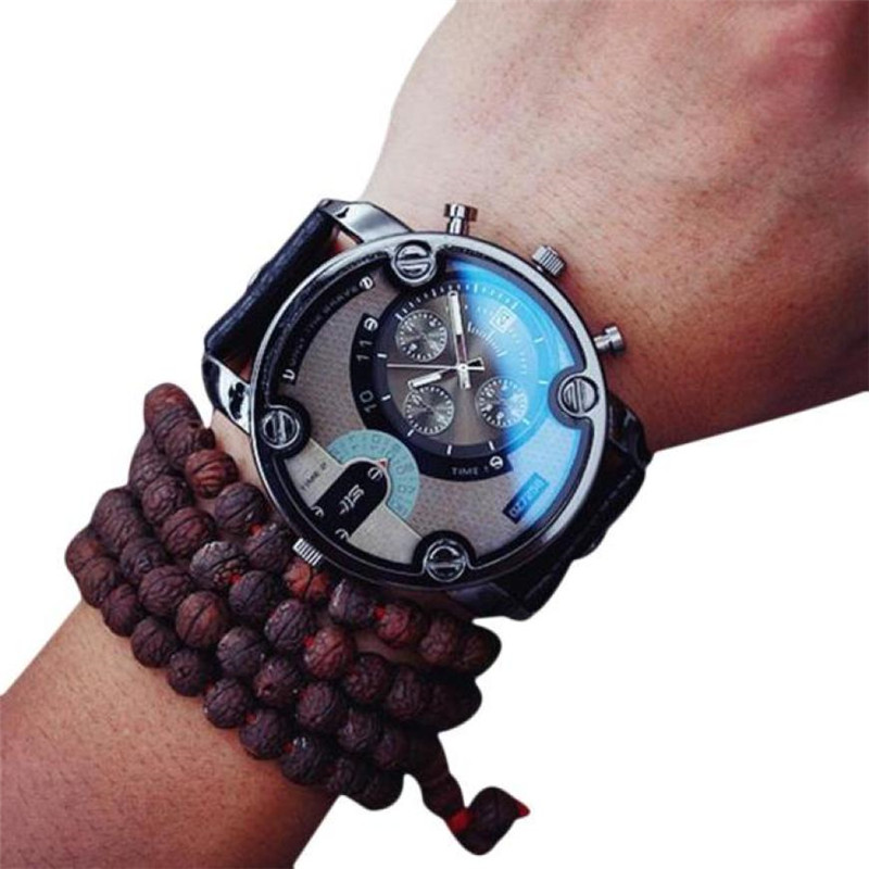 Reloj hombre quartz male watches Genuine Leather watches racing men game Military Chronograph Watch male Gift for Lovers #D genuine jedir quartz male watches genuine leather watches racing men students game run chronograph watch male glow hands