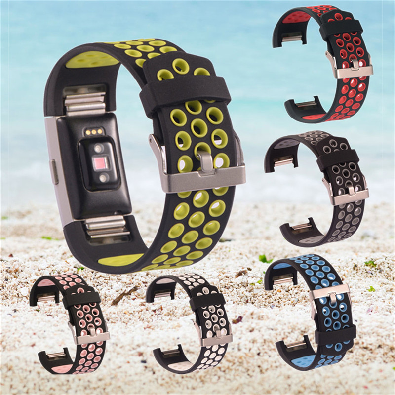 Multi-hole Color Replacement Watch Strap for Fitbit Charge 2 Adjustable Smart Band Replace Strap For Fitbit Charge 2 Bracelet