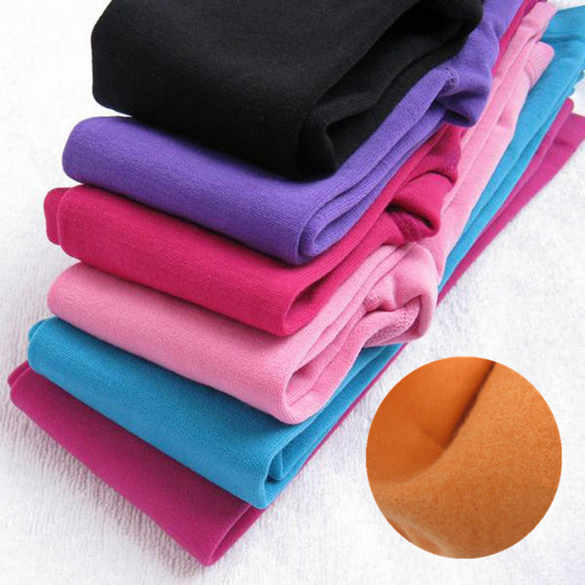 Fleece Girls Leggings Winter Leggins For Girl Warm Children Pants 10 Colors Kids Trousers Girls Bottom 1-10T Clothing