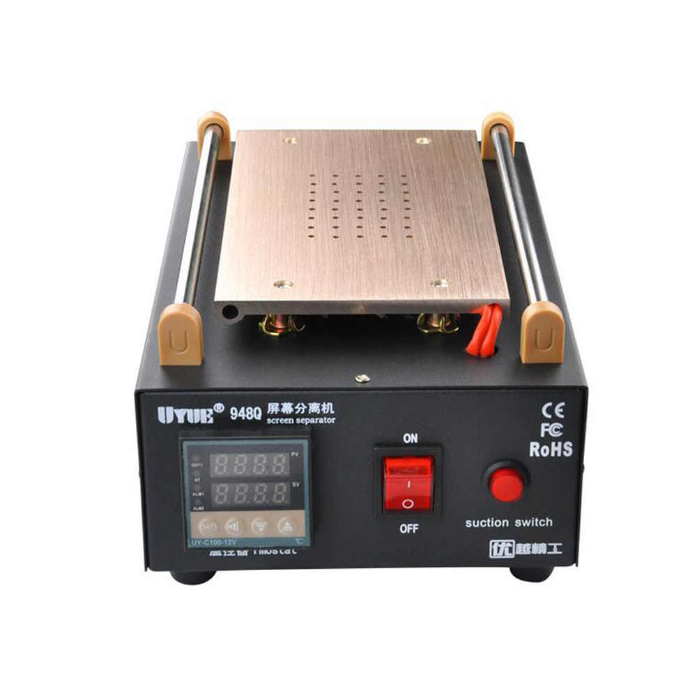 Uyue 948Q Built-In Pompa Vakum Kaca LCD Layar Sentuh Layar Mesin Pemisah Max 7 Inci Ponsel Membongkar Alat Perbaikan