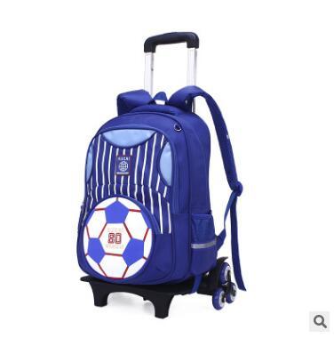 2fe8f8c50f6 Ruedas Mochila para niños de bolsas para niños estudiante carro Mochila con  ruedas de los niños de viaje Mochila en Bolsas de la escuela de Bolsos y  maletas ...